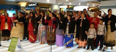 Tongan Choir at Wellington Airport