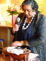 Vula Murphy cooks up sapa chop suey in the gallery